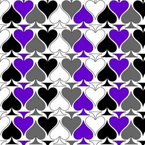 Ace Aware - Ace of Spades in Asexual Awareness Colors