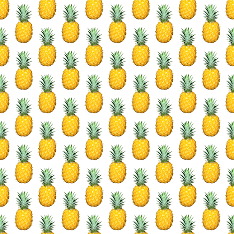 Pineapple photo repeating pattern - Tropical fruit print fabric by thecumulusfactory on Spoonflower - custom fabric