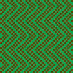 zigzag green brown