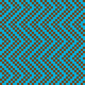 zigzag blue brown