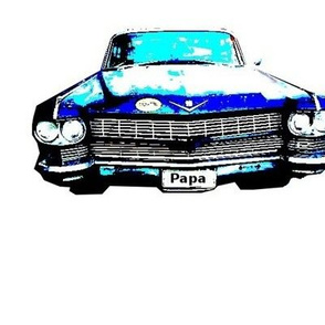 Two blue cadillac