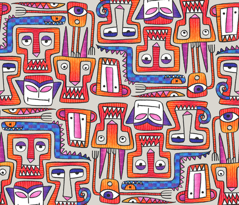Sharp Pointy Teeth fabric by spellstone on Spoonflower - custom fabric