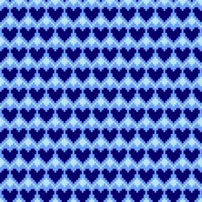 pixel hearts blue