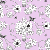Flowers and Pearls Lavender
