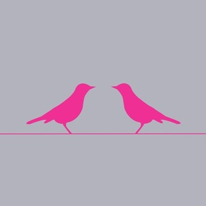 You and Me Birds Pink