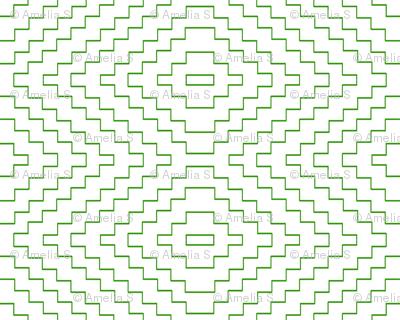 Aztec in Green