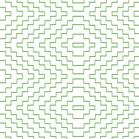 Aztec in Green fabric by sparrowsong on Spoonflower - custom fabric
