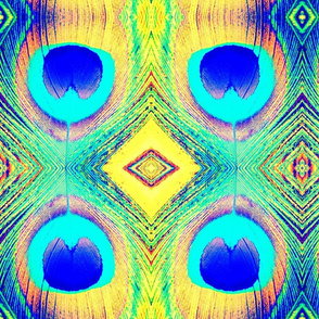 peacock abstract