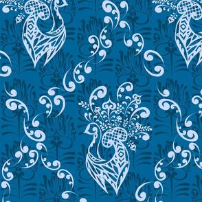 Peacock Damask