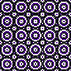Ace Aware - Bull's Eye Pattern - Layered - Asexual Awareness Colors 2
