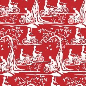 Year of the Bicycle - white on red