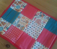 World food cheater quilt fabric
