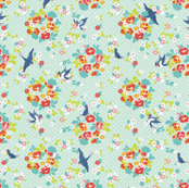 floral birds