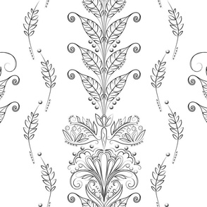 The-Vine floral for coloring