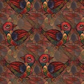 Birds - Rich Brown Diamond