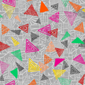Summer Shapes Triangles Grey Multi