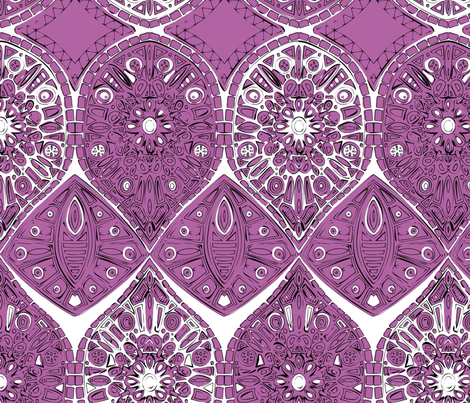 saffreya orchid fabric by scrummy on Spoonflower - custom fabric