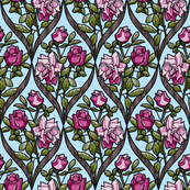 frame_double rose pink bark blue