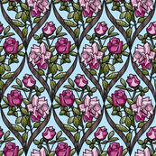 frame_double rose pink bark blue