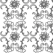 B&W Color-in Wallpaper