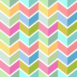 Chevrons in Lily tones