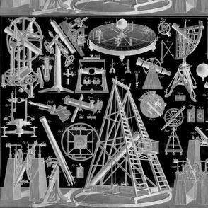 astronomy instruments black