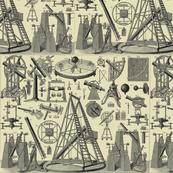 astronomy instruments beige