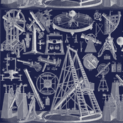 astronomy instruments blue