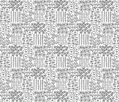 My favorite blooms fabric by mongiesama on Spoonflower - custom fabric