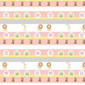 Garden Stripes Friends-Pink