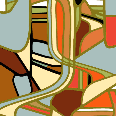 Danish Modern retro  fabric by joanmclemore on Spoonflower - custom fabric