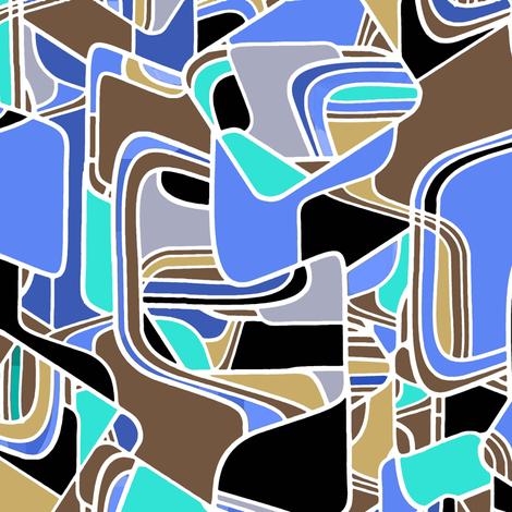 Danish Modern in blue  fabric by joanmclemore on Spoonflower - custom fabric