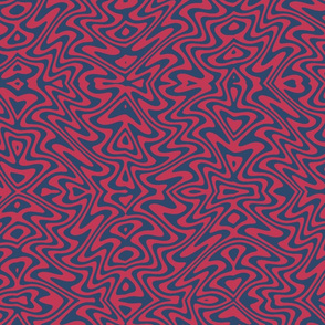 butterfly swirl in red and blue