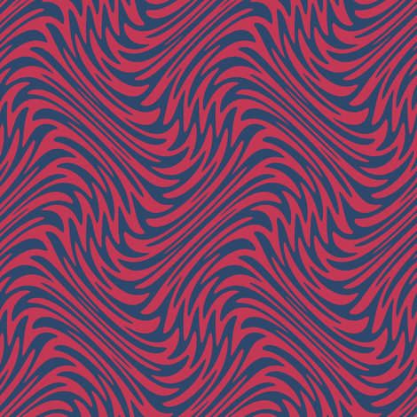 feather swirl in red and blue fabric by weavingmajor on Spoonflower - custom fabric
