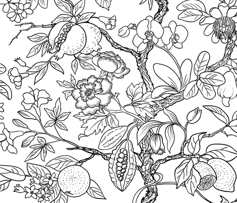 fantastic_tree_wallpaper fabric by ninanaina on Spoonflower - custom fabric