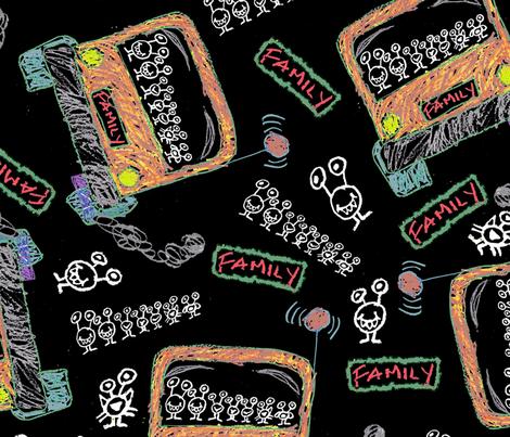 Monster minivan fabric by joojoostrees on Spoonflower - custom fabric