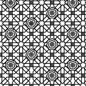 Black_and_White_Flower_grid