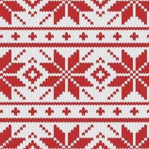 Knit Poinsettia Stripes Sweater