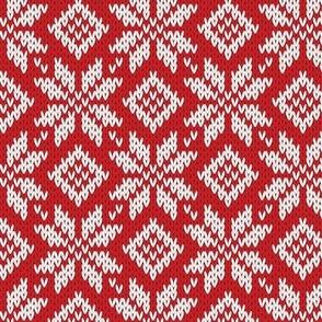Knit Poinsettia Sweater