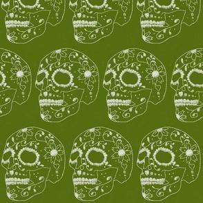 Sugar Skull dk green