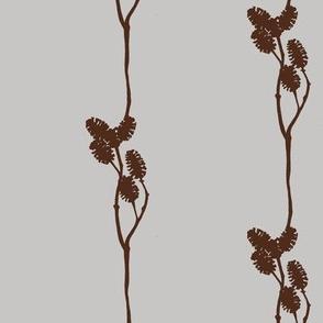 mini pine cone silhouette in brown