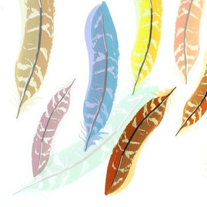 Rainbow Pheasant Feathers
