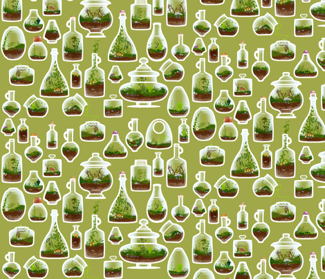 Terrarium Spaced fabric by jadegordon on Spoonflower - custom fabric