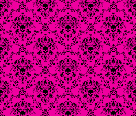 Black on Pink fabric by elizabeth on Spoonflower - custom fabric