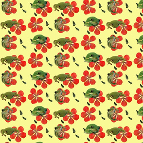 Frogs and Hibiscus