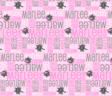 Personalised Name Design - Elephants Pink and Grey