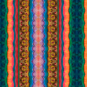 Artwork - Multicolor Patterned Stripes - Bright