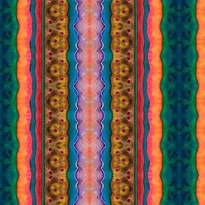 Artwork - Multicolor Patterned Stripes - Bright