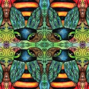 Artwork - Colorful Bees Painting
