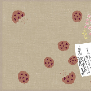 Mom's Chocolate Chip Cookies Tea Towel